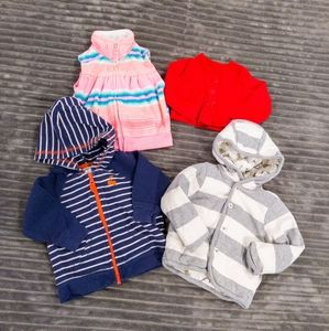 Baby Girls Jacket Sweatshirt Bundle 3-6 months